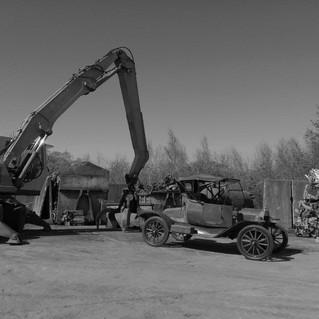 At the scrap yard...