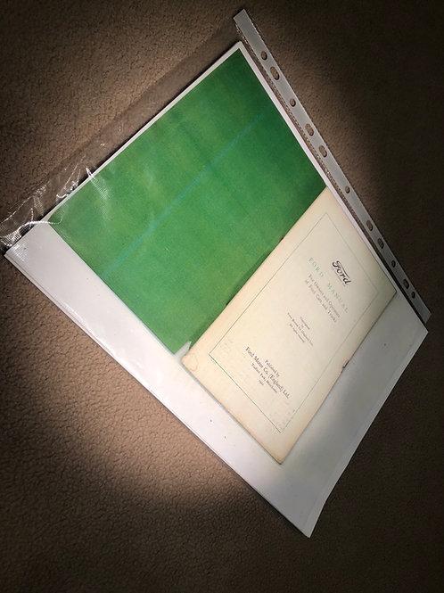1922 English Ford Manual Photocopy