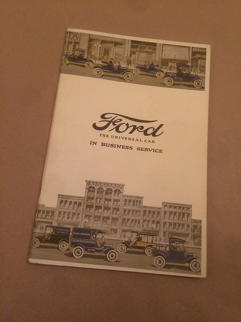 Ford The Universal Car In Business Service Booklet