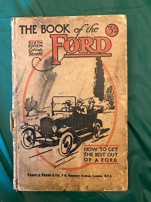 The Book of Ford 6th ed 1921 Nicholsons
