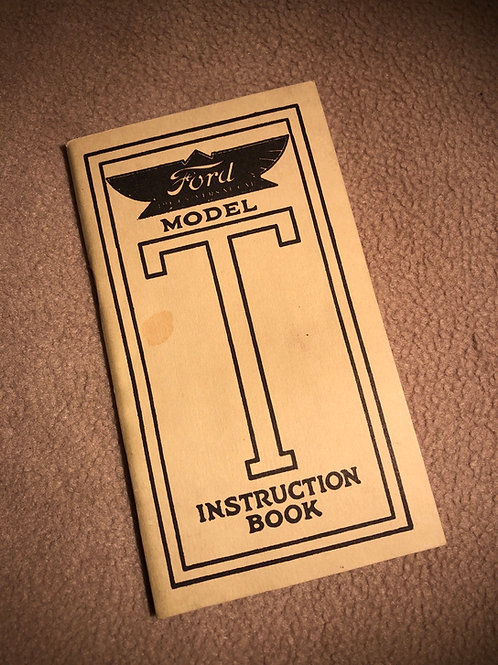 T2 Reprint 1954 Instruction Book