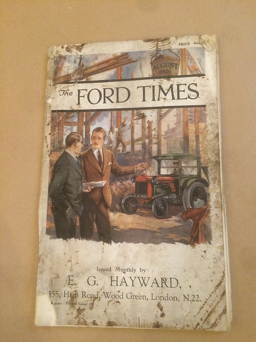 Ford Times - August 1926