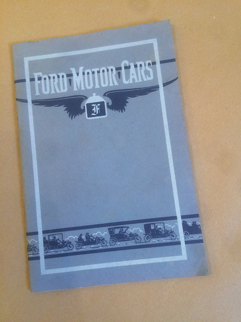 Ford Motor Cars - 1909 Sales Booklet
