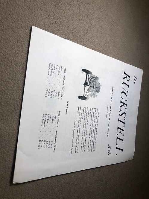 The Ruckstell Axle Booklet