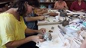oficina de paperclay execução de projetos