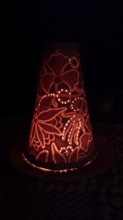 Luminária em Paper Clay