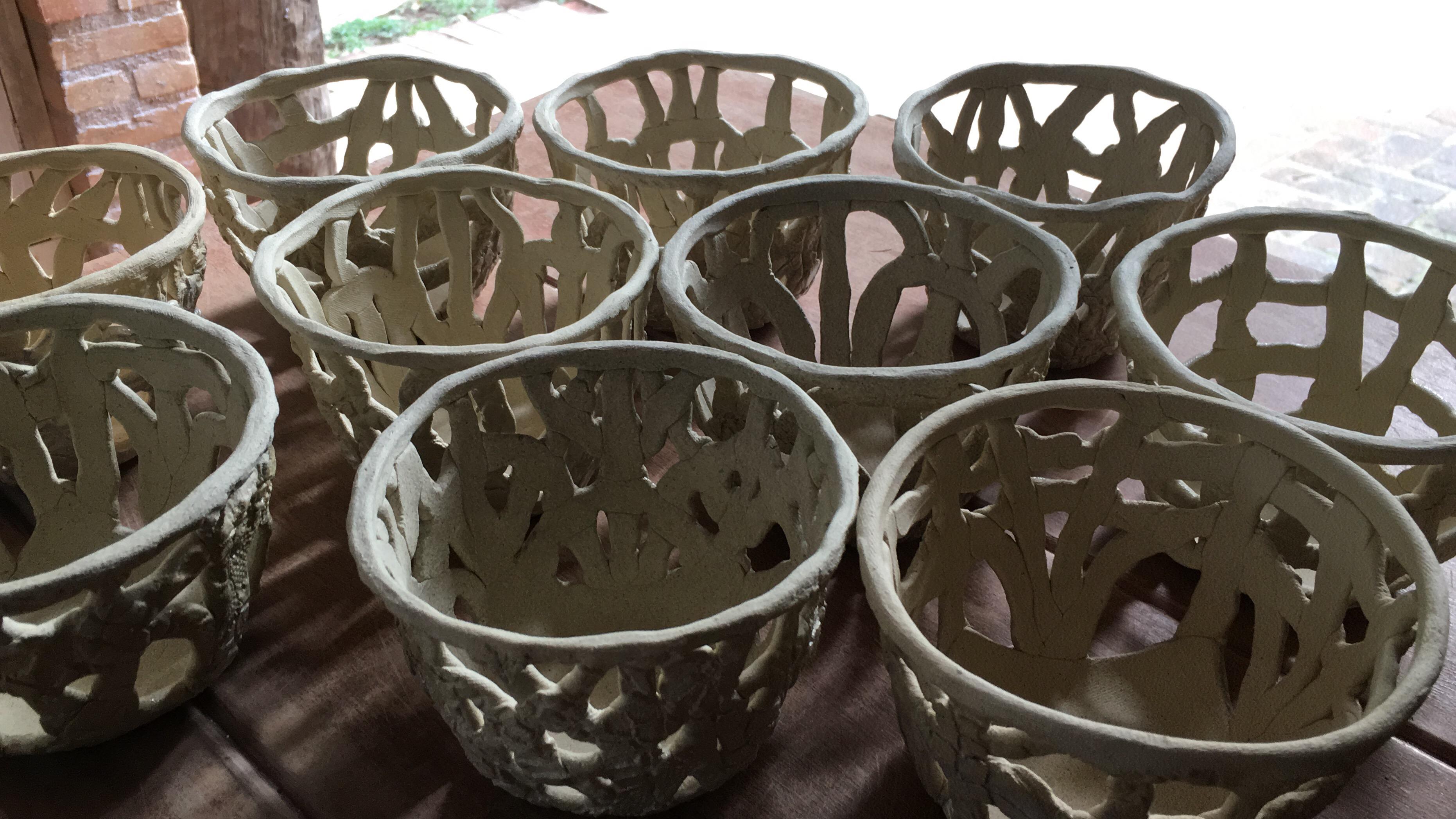 cachepots em paperclay