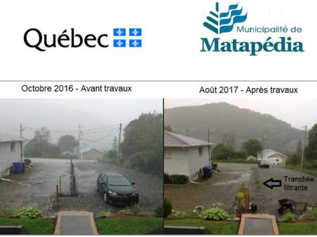 Matapédia: Gérer l'eau en amont est la solution!
