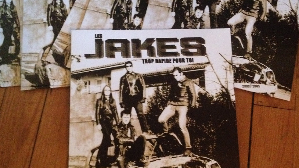 "THE JAKES ""Trop Rapide Pour Toi""  ""LP""  limited edition ""unreleased songs 2001"""