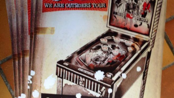 """Flying Over """"We Are Outsiders"""" Tour Poster"""