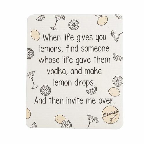 "Ellembee- ""When Life Gives You Lemons..."" Funny Swedish Dishcloth"