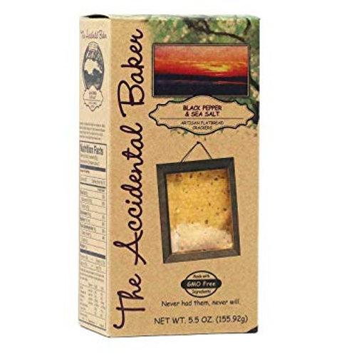Accidental Baker Black Pepper & Sea Salt Flatbread Crackers