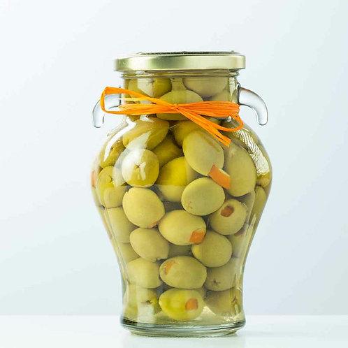 Delizia Orange Stuffed Manzanillia Olives