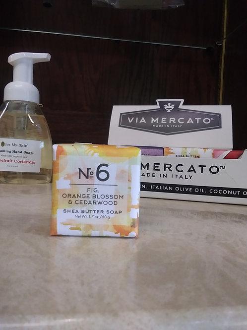 Via Mercato Italian Mini Soaps- Fig, Orange Blossom, & Cedarwood. No.6