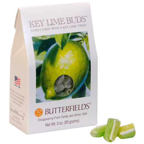Butterfields Hard Candy-Key Lime Buds 3oz