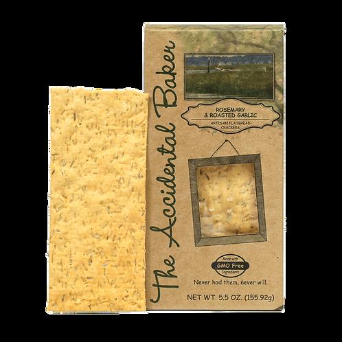 Accidental Baker Rosemary & Roasted Garlic Flatbread Crackers