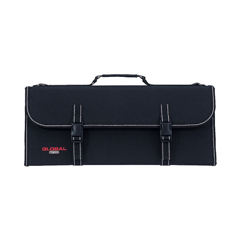 Global Knife Case With Strap- 21 Pockets- Hard Type