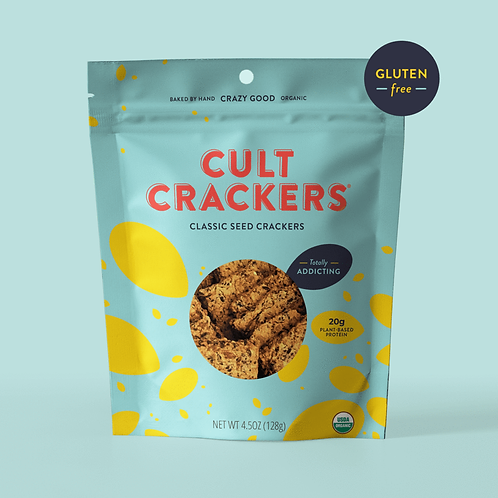 Cult Classic Seed Crackers- Gluten Free
