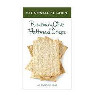 Stonewall Kitchen Rosemary Olive Flatbread Crisps-5.8 Oz