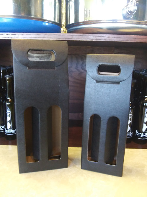 Black Double Bottle Carriers
