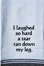 "Wild Hare Funny Tea Towel- ""I Laughed So Hard a Tear Ran Down My Leg"""