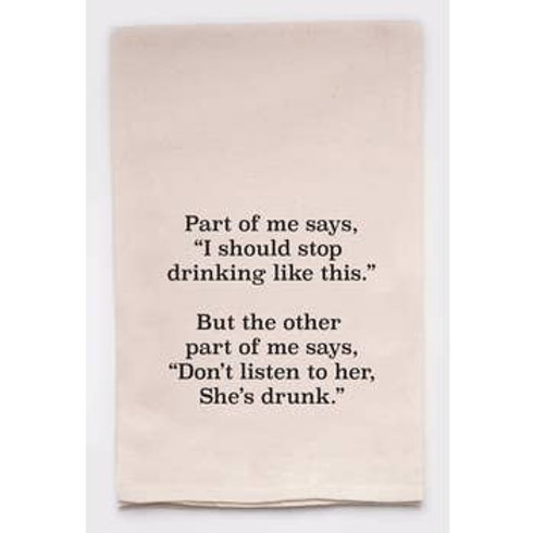 """Ellembee- """"...I Should Stop Drinking Like This..."""" Funny Tea Towel"""