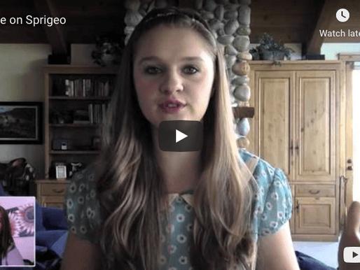 Lizzie interviewed on Sprigeo