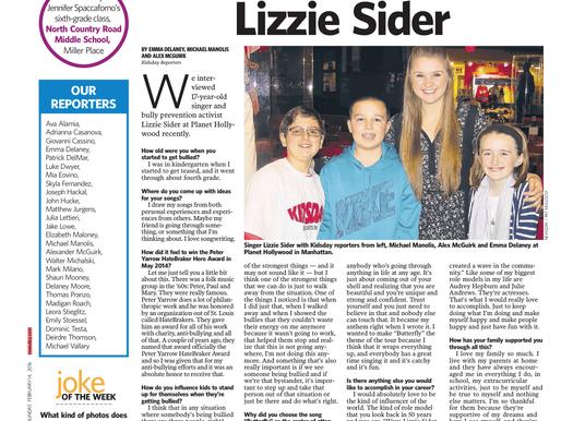 KidsDay Print Edition (Interview w/ Lizzie Sider)