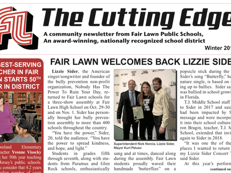 FAIR LAWN WELCOMES BACK LIZZIE SIDER (The Cutting Edge)