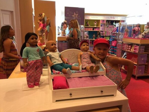 MOM'S TOUCHING NOTE THANKS AMERICAN GIRL FOR DISPLAYING BALD DOLLS