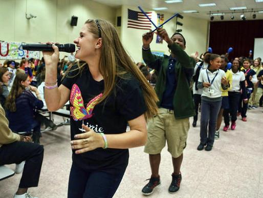 Lizzie Sider at Sunrise Middle School (Sun Sentinel)
