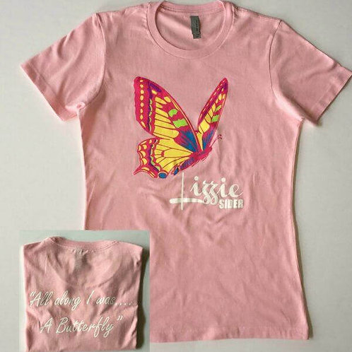 Pink Ladies Butterfly T-Shirt