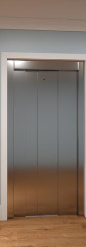Final Slim Luxury elevator doors closed