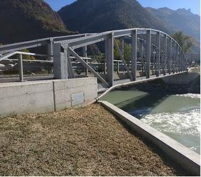 Pont sur le Rhône à Riddes