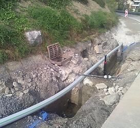 Amélioration/extension conduite eau potable à Saxonne