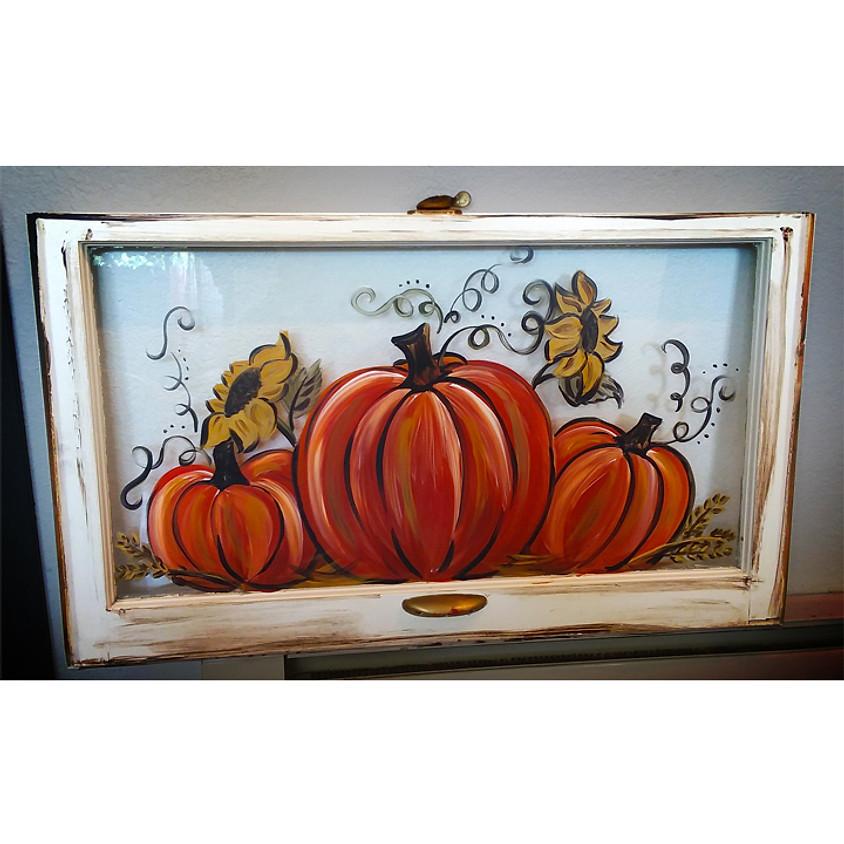 "Window Painting! ""Fall"""