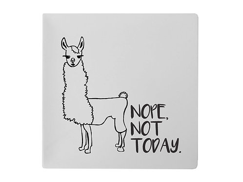 Not Today Llama Plate