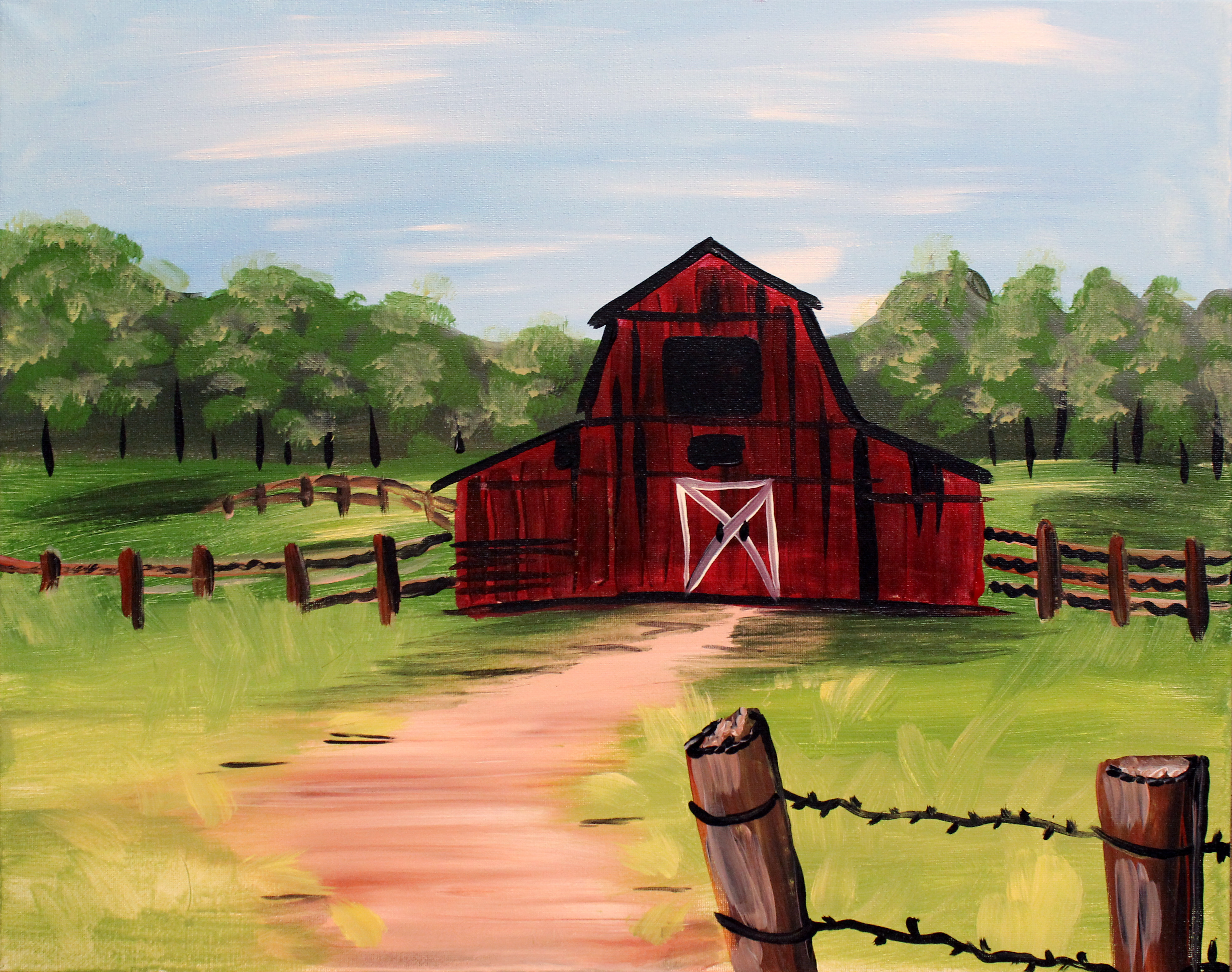 Barn and Fields