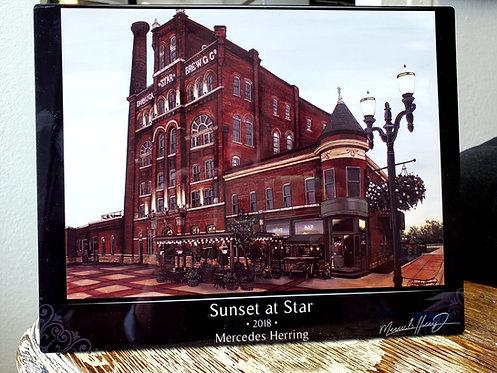 Sunset at Star - 8x10 Desktop Plaque