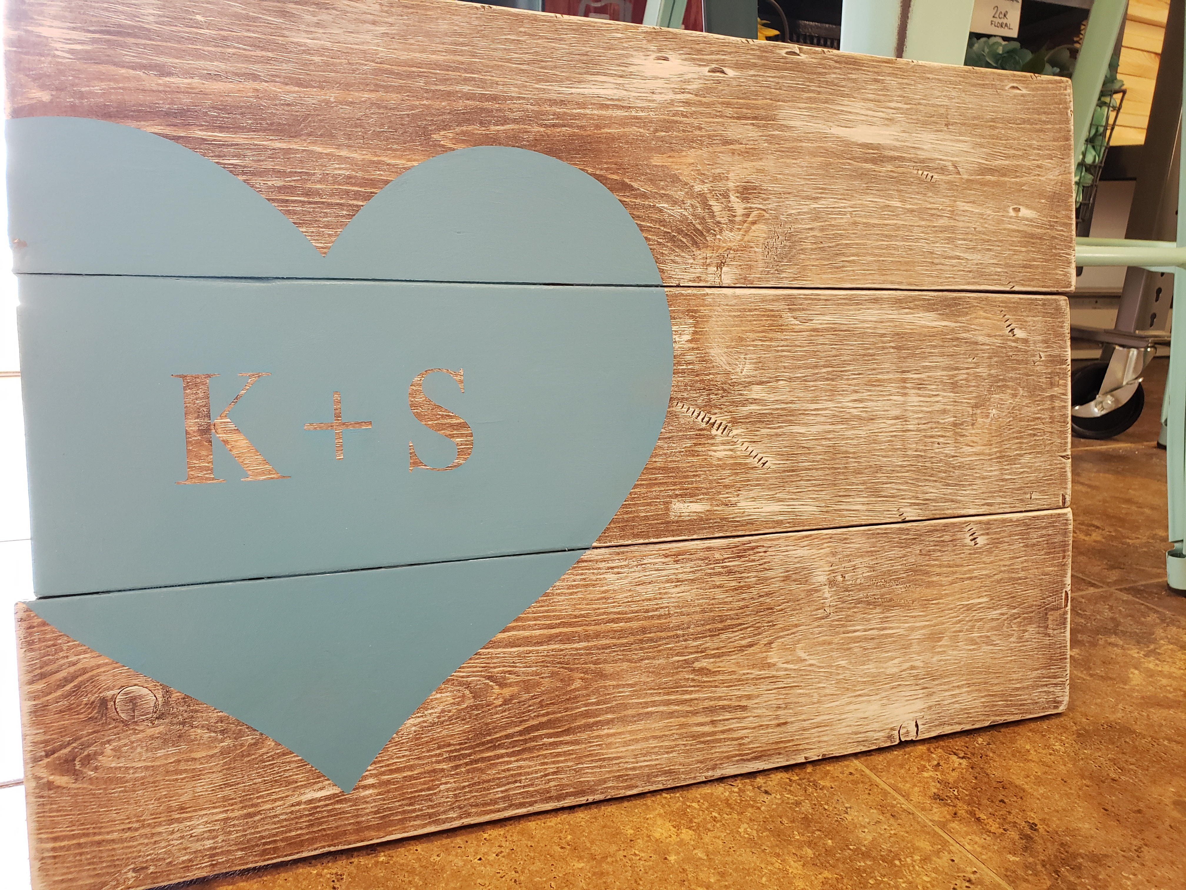 Initials Heart Sign-in Board