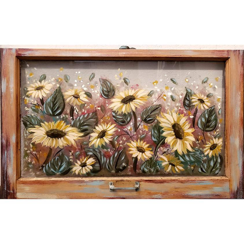 Sunflower Window @ Denny's Lux Club