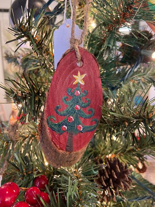 Tannenbaum Tree Hand Painted Ornament