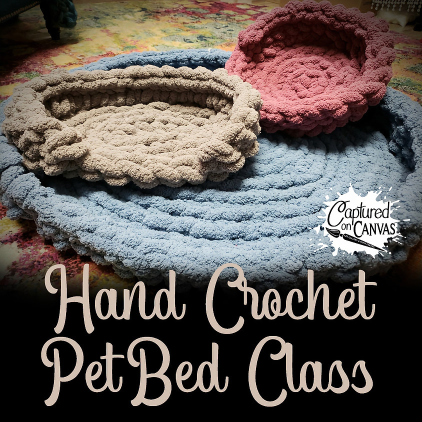 Chunky Knit Pet Bed Party - In-Studio or Online