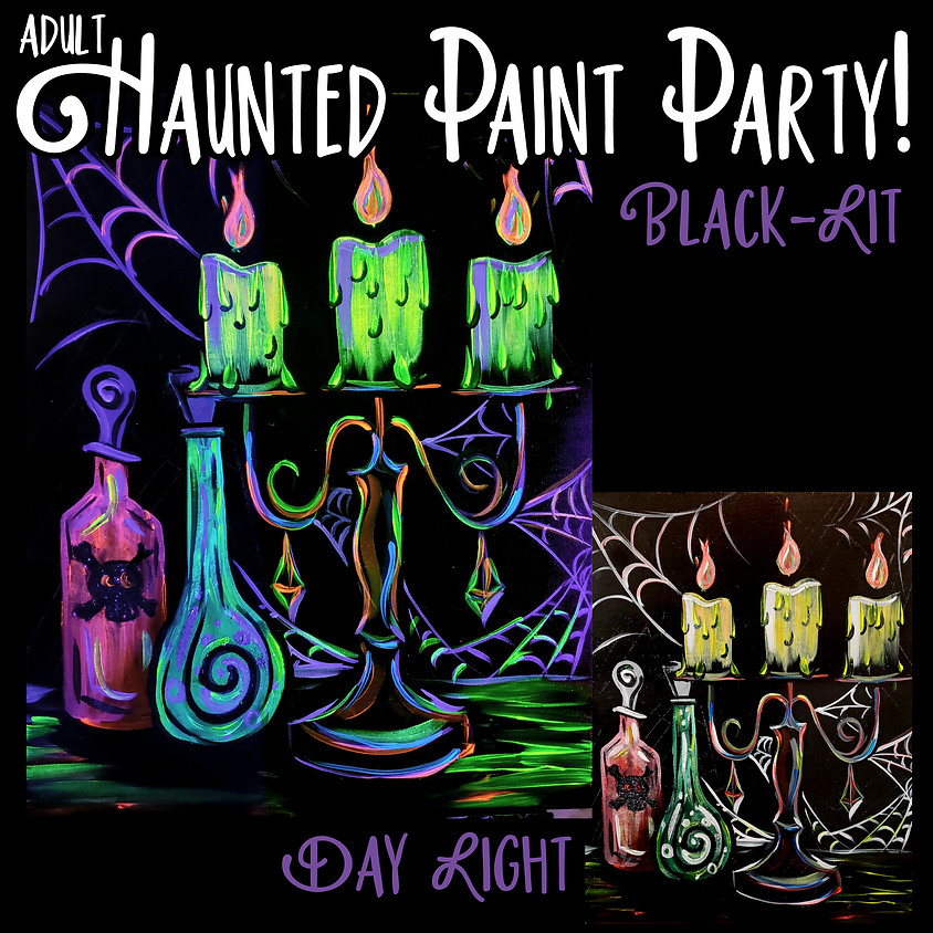 Creepy Candelabrum Haunted Party - Adult Event- In-Studio or LIVE