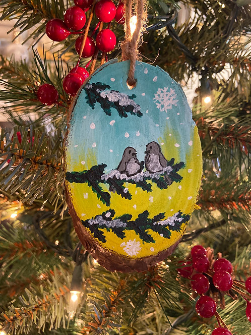 How Tweet Hand Painted Ornament