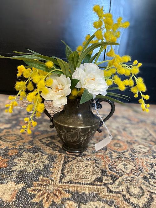 Vintage Floral Pot