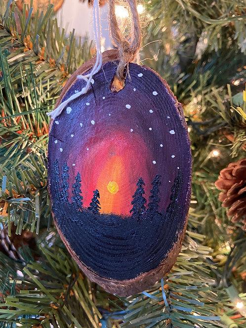 Sunburst Hand Painted Ornament