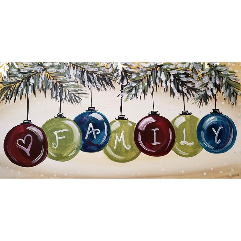 Family Ornaments - Live or In-Studio