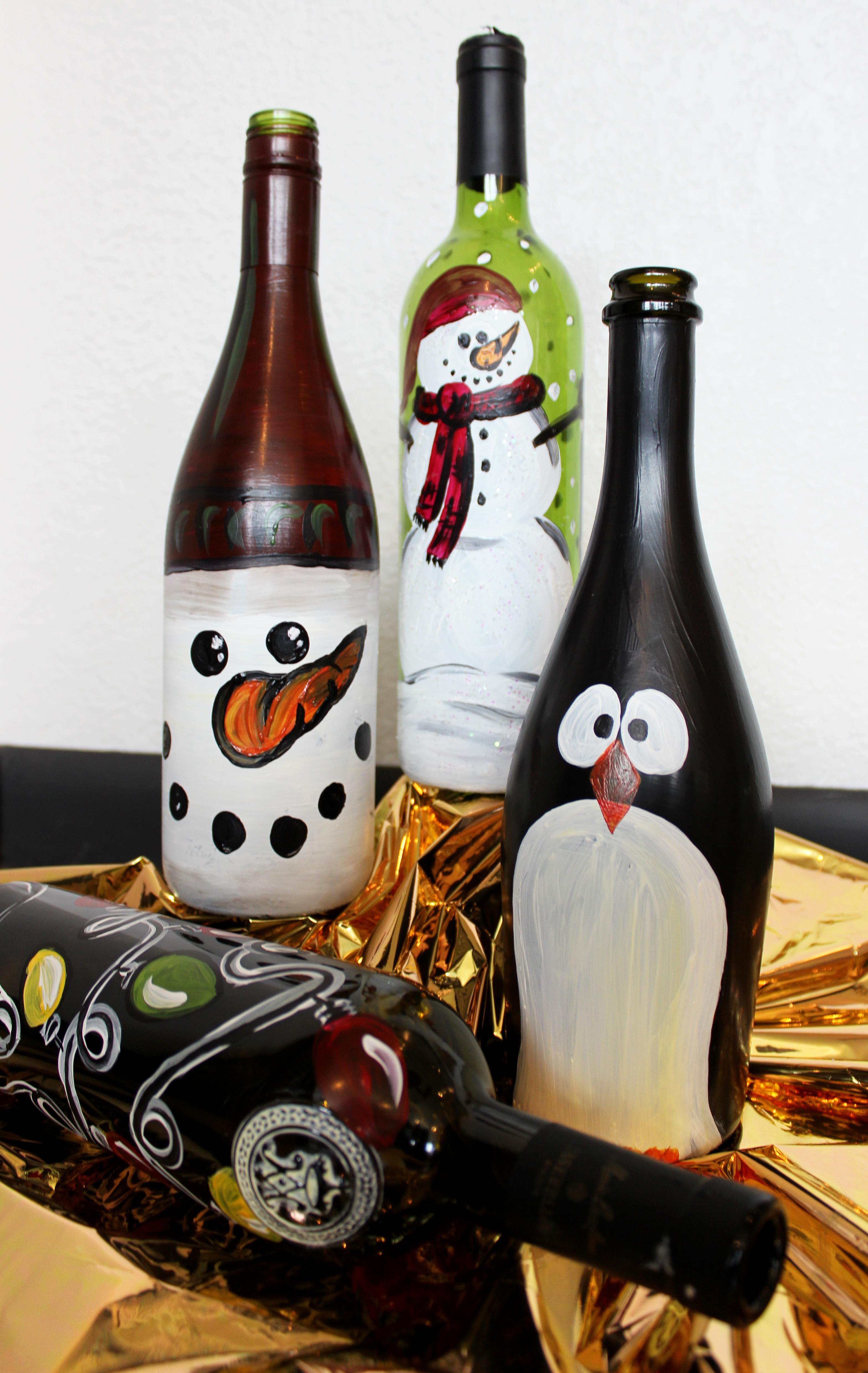 Wine Bottle Paint Lab