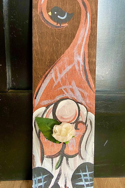 Orange & Cream Gnome with Flower